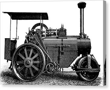 Steam Road Roller Canvas Print