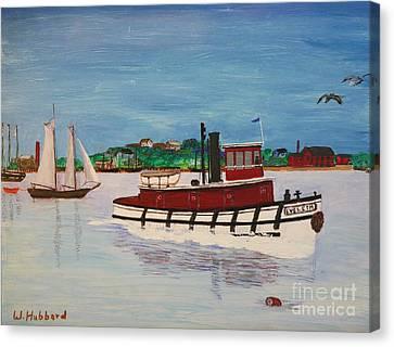 Steam Tug Eveleth Canvas Print by Bill Hubbard