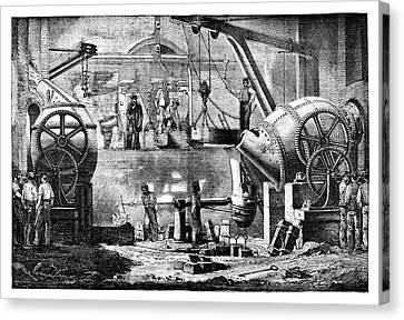Steelworks Canvas Print by Science Photo Library