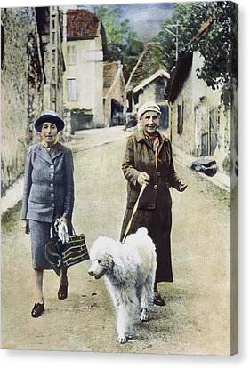 Stein And Toklas, 1944 Canvas Print