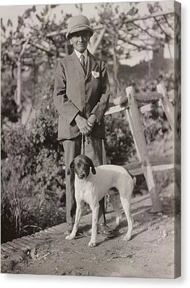 Stein With His Dog Canvas Print by British Library