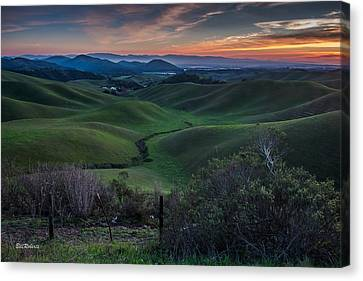 Pastoral Canvas Print - Steinbeck Country  by Bill Roberts