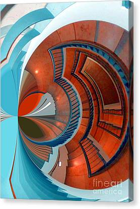 Canvas Print featuring the digital art Step by Nico Bielow