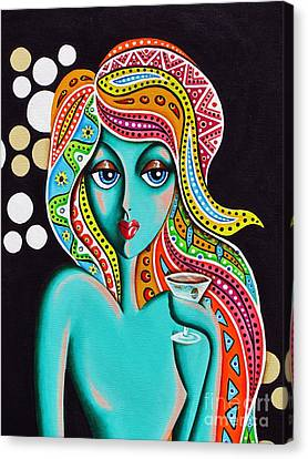 Stephanie Groovy Chick Detail Canvas Print