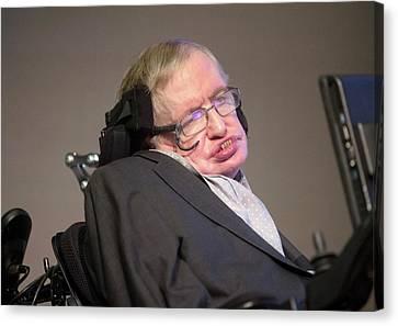 Stephen Hawking Canvas Print by Mark Thomas
