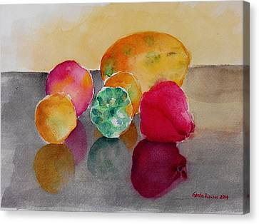 Still Life Fruits Canvas Print by Geeta Biswas