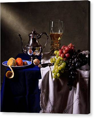 Canvas Print featuring the photograph Still Life With Roemer And Silver Tea Pot by Levin Rodriguez