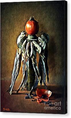 Still Life With Stockfish Canvas Print