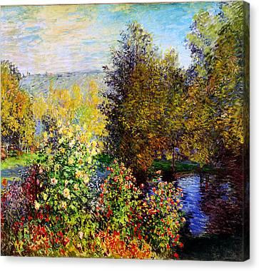 Stiller Winkel Im Garten Von Montgeron Canvas Print by Celestial Images