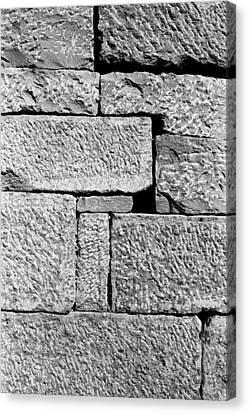 Stone Brick Wall Canvas Print by Jagdish Agarwal