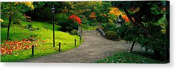 Stone Bridge, The Japanese Garden Canvas Print by Panoramic Images