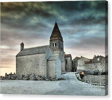 Stone Church Canvas Print by Sinisa Botas