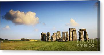 Wiltshire Canvas Print - Stonehenge Summer Evening by Colin and Linda McKie