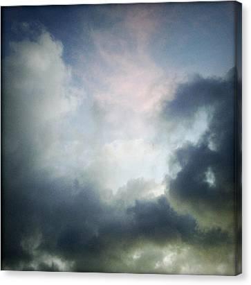 Storm Clouds Canvas Print by Les Cunliffe