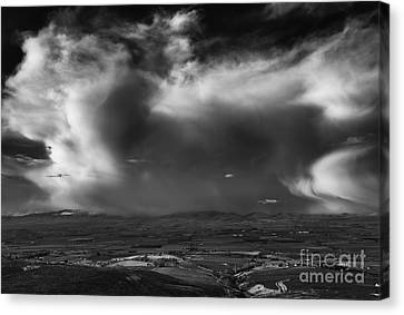 Storm Over The Kittitas Valley Canvas Print by Mike  Dawson