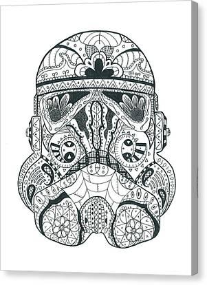Stormtrooper #1 Canvas Print by Malina Alexander