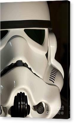 Stormtrooper Helmet Canvas Print by Micah May