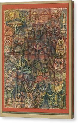 Strange Garden Canvas Print by Paul Klee