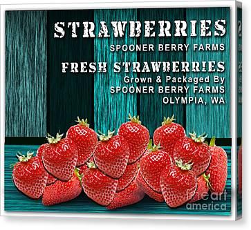 Strawberry Farm Canvas Print