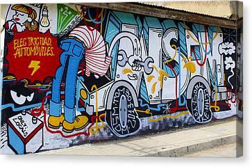 Street Art Valparaiso Chile 15 Canvas Print by Kurt Van Wagner