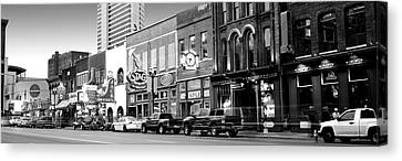 Downtown Nashville Canvas Print - Street Scene At Dusk, Nashville by Panoramic Images