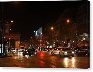 Chair Canvas Print - Street Scenes - Paris France - 011320 by DC Photographer