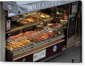 Street Scenes - Paris France - 011335 Canvas Print by DC Photographer