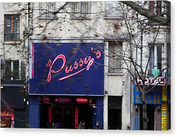 Street Scenes - Paris France - 011348 Canvas Print by DC Photographer