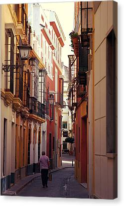 City Scenes Canvas Print - Streets Of Seville - Spain - Calle Abades by Andrea Mazzocchetti