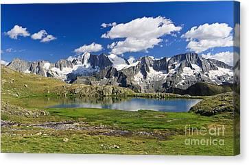 Canvas Print featuring the photograph Strino Lake - Italy by Antonio Scarpi