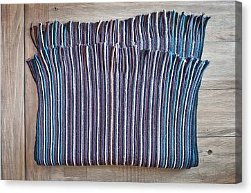 Striped Scarf Canvas Print by Tom Gowanlock