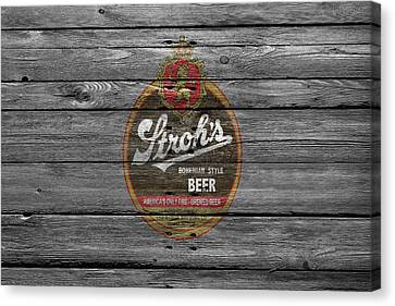 Strohs Beer Canvas Print by Joe Hamilton
