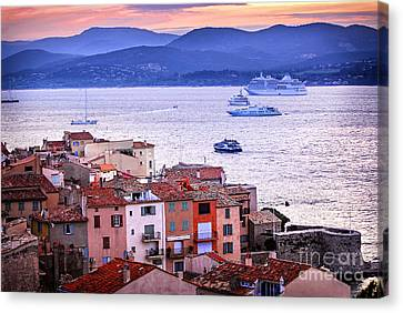 St.tropez At Sunset Canvas Print by Elena Elisseeva