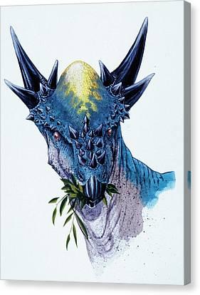 Stygimoloch Dinosaur Canvas Print