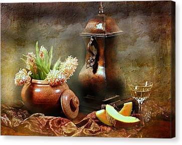 Cantaloupe Canvas Print - Style Classic by Diana Angstadt