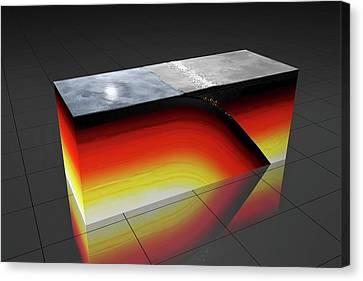Subduction Zone Canvas Print