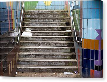 Subway Stairs Canvas Print by Fizzy Image