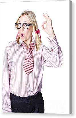 Successful Businesswoman Canvas Print by Jorgo Photography - Wall Art Gallery