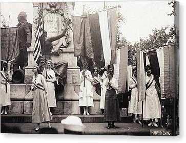 Suffragettes, 1918 Canvas Print by Granger