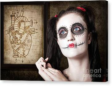 Sugar Skull Mechanical Romance Canvas Print by Jorgo Photography - Wall Art Gallery