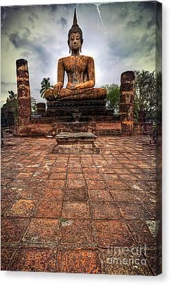 Sukhothai Buddha Canvas Print by Adrian Evans