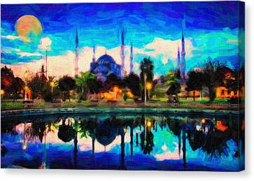 Sultan Ahmed The Blue Mosque Canvas Print