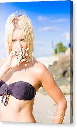 Summer Beach Babe Canvas Print by Jorgo Photography - Wall Art Gallery