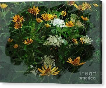 Summer Bouquet Canvas Print by Kathie Chicoine