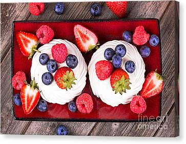 Rich Canvas Print - Summer Fruit Platter by Jane Rix