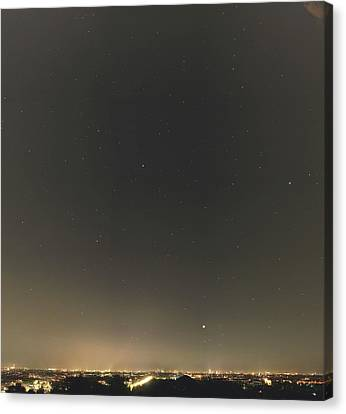 Summer Stars And Light Pollution Canvas Print by Eckhard Slawik