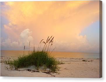 Summer Sunrise On Nokomis Beach Canvas Print