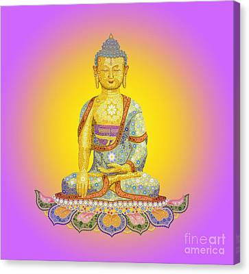 Sun Buddha Canvas Print by Tim Gainey