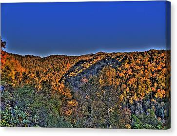 Canvas Print featuring the photograph Sun On The Hills by Jonny D