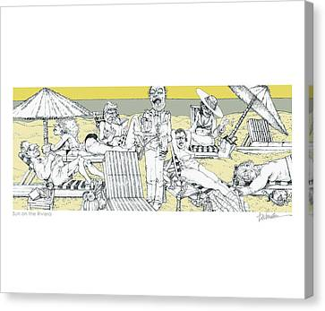 Sun On The Riviera Canvas Print by Dennis Wunsch